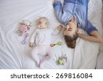 being mom is so exhausted | Shutterstock . vector #269816084