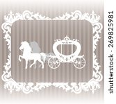 carriage pulled by two horses....   Shutterstock .eps vector #269825981
