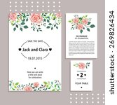 vector set of invitation cards... | Shutterstock .eps vector #269826434