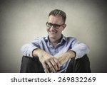 smiley businessman  | Shutterstock . vector #269832269