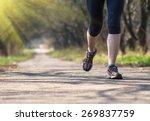 sport woman training outside in ... | Shutterstock . vector #269837759