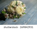 Постер, плакат: Bridal bouquet and wedding