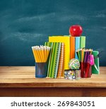education  apple  book. | Shutterstock . vector #269843051