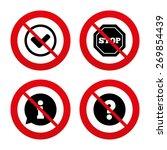no  ban or stop signs.... | Shutterstock .eps vector #269854439