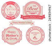 set of four vintage stickers ... | Shutterstock .eps vector #269854967