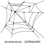 spider web monochrome. vector... | Shutterstock .eps vector #269866484