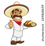 mexican cook | Shutterstock .eps vector #269868659