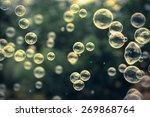 Bubbles Vintage Background.
