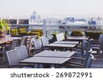 rooftop cafe  open terrace with ... | Shutterstock . vector #269872991