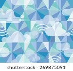 seamless hexagon pattern with... | Shutterstock .eps vector #269875091