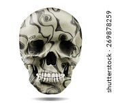 human skull colored with white... | Shutterstock . vector #269878259