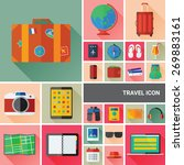 travel icon set collection with ...