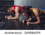 fit sportive man and woman... | Shutterstock . vector #269886059