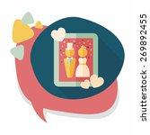 wedding photo flat icon with... | Shutterstock .eps vector #269892455