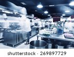 modern kitchen and chefs in... | Shutterstock . vector #269897729