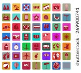 colorful holiday icon set.... | Shutterstock .eps vector #269900741