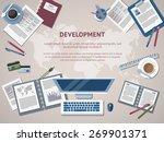 set of flat design items for...   Shutterstock .eps vector #269901371