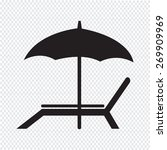beach chair icon | Shutterstock .eps vector #269909969