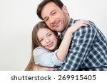 father and daughter giving... | Shutterstock . vector #269915405