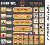 mining treasure hunt game menu... | Shutterstock .eps vector #269916251