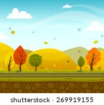 Game 2d Autumn Park Landscape...