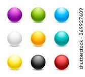 Set Of Balls. Colored Balls...