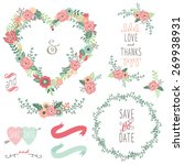 vintage heart shape wreath...   Shutterstock .eps vector #269938931