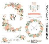 retro floral elements | Shutterstock .eps vector #269938937