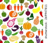 vegetables and fruits... | Shutterstock . vector #269947811