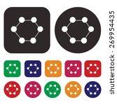 atom icon   science icon | Shutterstock .eps vector #269954435