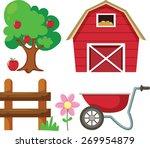 vector illustration of farm  | Shutterstock .eps vector #269954879