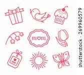set of mother's day icons | Shutterstock .eps vector #269960579