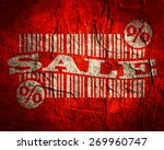bar code with sale text and... | Shutterstock . vector #269960747