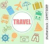 travel posters set   vacation... | Shutterstock .eps vector #269973089