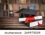 graduation  mortar board ... | Shutterstock . vector #269975039