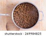 close up big pan with smoking... | Shutterstock . vector #269984825