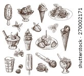vector set with hand drawn... | Shutterstock .eps vector #270002171