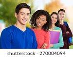 african  students  university. | Shutterstock . vector #270004094