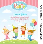 children's party invitation... | Shutterstock .eps vector #270004427