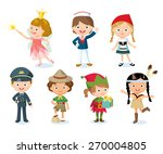 halloween costumes for kids | Shutterstock .eps vector #270004805
