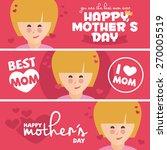 a set of cute design banners... | Shutterstock .eps vector #270005519