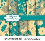 set of vector abstract flower... | Shutterstock .eps vector #270006329