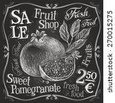 pomegranate vector logo design... | Shutterstock .eps vector #270015275