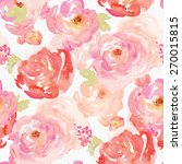 colorful watercolor floral...   Shutterstock . vector #270015815