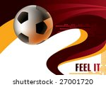 soccer ball poster. vector...