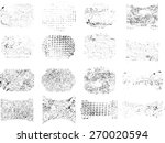 set of grunge rubber texture... | Shutterstock .eps vector #270020594