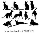 collection of silhouettes of...   Shutterstock .eps vector #27002575