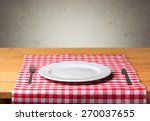 plate  wooden  wood. | Shutterstock . vector #270037655
