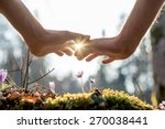 close up bare hand of a man... | Shutterstock . vector #270038441