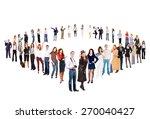 team over white isolated groups    Shutterstock . vector #270040427